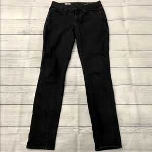 gap black denim curvy skinny jeans